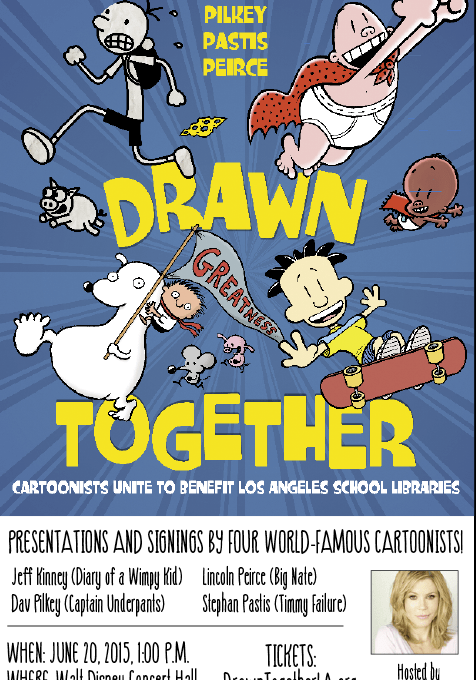 """Drawn Together"" Brings 4 Bestselling Children's Book Authors Together For Public School Libraries"