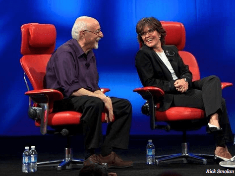 You'd be smiling too if you were Walt Mossberg or Kara Swisher