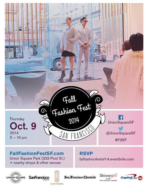 Union Square SF's Fall Fashion Fest – Oct. 9